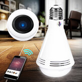 360° HD 960P 1080P WiFi IP Camera LED Light Bulb bluetooth Speaker Security Monitoring
