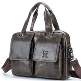 Bullcaptain Cow Leather Retro Handbag Lazer Maleta