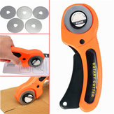 45mm Rotary Cutter Syning Quilting Fabric Cutting Craft Tool med 5 stk. Blade