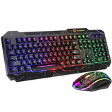 GMK-60 104 Keys Wired Keyboard & Mouse Set 4D RGB Backlight Gaming Keyboard 1600DPI Ergonomic Mouse