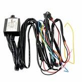 12 V DRL Dimmer LED Relé de Escurecimento Luz de Circulação Diurna Carro On / Off Switch Harness Com Flash Função de Atraso de Sinal de Volta