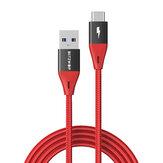 BlitzWolf® BW-TC22 3A QC3.0 USB-C para USB 3.0 Nylon Cabo trançado de 3 pés / 6 pés 5 Gbps Cabo de transferência de dados para Samsung Galaxy S21 Note S20 ultra Huawei Mate40 P50 OnePlus 9 Pro