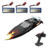 Eachine EBT04 plusieurs Batterie RTR 2.4G 4CH 40 km/h Brushless RC Boat Vechicles Models w/Colorful Lights Water Cooling System