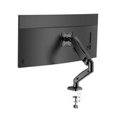 BlitzWolf® BW-MS1 Monitor Laptop Stand with Pneumatic Arm, 360° Rotation, +90° to -45° Tilt, 180°Swivel, Adjustable Height and Cable Management