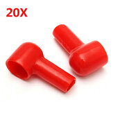 20Pcs Red Soft Plastic Battery Terminal Boots Insulating Protector Covers