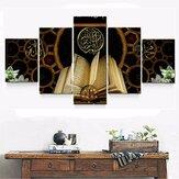 5db vászonképes festmények Korán olajfestmény fal dekoratív nyomtatás művészeti kép keret nélküli otthoni irodai dekoráció
