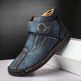 حذاء جلد من الألياف الدقيقة للرجال خياطة يدوية Soft