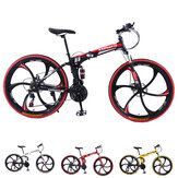 KAIMARTE 26 Inch 21-Speed Folding Mountain Bike Off-road BMX Bikes Double Disc Brakes Students and Kids Road Bikes Bicicleta Bicycle