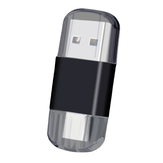 Mini 2 in 1 Type-c USB 2.0 Card Reader Dual Interface Multifunctional TF / SD Memory Card Adapter for Computer Mobile Phone
