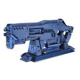 Mu bghn-1 3d diy de metal arma enigma azul modelo de recolha de brinquedo 100 * 35 * 15mm