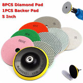 8pcs 4 Inch 30-3000 Grit Diamond Polishing Pads With Backer Pad for Granite Stone Concrete Marble