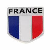 Emblema da liga de alumínio france bandeira francesa pettern emblema etiqueta 3D escudo decoração decalque