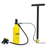 DIDEEP 1L Portable Scuba Tank Diving Oxygen Dive Equipment + Inflator Pump Kit