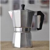 وعاء قهوة إيطالي من إيه سي إل ، وعاء موكا مثمن الأضلاع مصنوع من الألومنيوم المقاوم للحرارة للاستخدام المنزلي