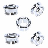 Sink Round Overflow Spare Cover Tidy Chrome Trim Bathroom Ceramic Basin Overflow Ring