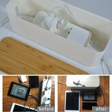 Cable Storage Box Power Cord Wire Case Anti Dust Charger Socket Tidy Organizer