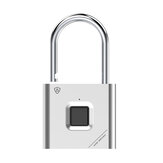 ENNIO Smart Fingerprint Padlock Antipoussière Et Étanche USB De Charge 90g Longstandby Fingerprint Unlock