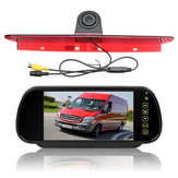 7 polegadas Car Rear View Camera Monitor w / Luz de freio Invertendo Camera Kit Fit Mercedes Sprinter