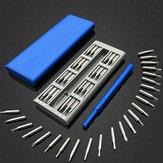 25 v 1 Multifunkční šroubovák s magnetickým šroubovákem sada pro opravu s hliníkovým pouzdrem modrý