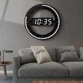 US/EU Plug 12 Inch LED Ring Wall Clock Automatic Photosensitive Digital Electronic Clock Office Bedroom Plastic Clock
