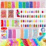 82PCS Slime Making DIY Kit Colorful Foam Ball Beads Sequins Gifts Kids Toys Improve Practical&Thinking Ability