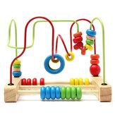 Yeni yürümeye başlayan çocuklar Boncuk Labirent Silindir Oyuncaklar Ahşap Çocuk Abaküs Boncuk Oyunu Okul Öncesi Eğitici Oyuncak Erkek Kız Bebek için Hediye