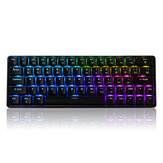 المهوس GK64 64 مفتاح Gateron تبديل Swappable CIY Switch RGB Backlit Mechanical Gaming Keyboard