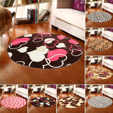 100x100cm Coral Velvet Bathroom Absorbent Carpet Anti Slip Door Sill Round Mat Rug