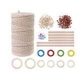 Fio para artesanato DIY Fio de algodão branco natural para ferramentas de suspensão de parede