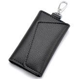 جلدسيارةمفتاححقيبةالقضيةالرجال النساء المفاتيح حامل منظم الحقيبة البقرة سبليت البسيطة المحفظة بطاقة حقيبة