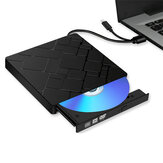 External CD DVD Drive USB 3.0 Type-C Portable Slim CD/DVD RW Disc Drive Rewriter Burner Floppy Superdrive Writer/Player for Laptop Desktop PC