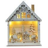 LED光の木の家かわいいクリスマスツリー装飾飾りの休日の装飾