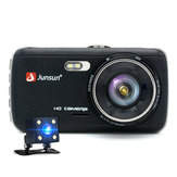 Junsun 4 Inch Volledige HD 1296 P ADAS Dual Lens IPS Video Recorder Nachtzicht Auto DVR Camera