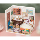 Robotime DGM08 DIY Doll House Handmade Wooden Assembly Model Anne Bedroom Theme Doll House With Furniture
