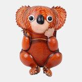 Unisex echt leer casual schattig outdoor cartoon dier koala vorm kleine munt tas portemonnee