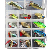 ZANLURE 21pcs/set Metal Spoon Lures Fishing Lure Set VIB Sea Fish Bass Baits Crankbait Swimbait