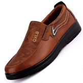 Men Vintage Microfiber Casual Business Soft Sole Dress Shoes