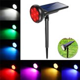 Zonne-energie 7 LED RGB Spot Light Outdoor Tuin Yard Lawn Path Patio Wandlamp