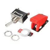 Excellway® 12V Heavy Duty Toggle Switch Flick ON/OFF Car Boat Light Switch Spst With Missile Cover