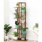 5/6/7-Tier Wooden Plant Stand Flower Pot Shelf Indoor Storage Display Rack