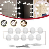 10PC USB Hollywood LED Ampoule Vanity Maquillage Coiffeuse Dimmable Miroir Lumière Kit DC5V