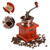 Vintage drewniany młyn ręczny szlifierka młynkiem kawowym szlifowanie narzędzie ręczne