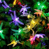Honana DX-334 20 LED Dragonfly Kolorowe Lights String Solar powered Night Light Garden Home Decor