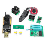 EEPROM BIOS USB Programmer CH341A + SOIC8 Clip + 1.8V Adapter + SOIC8 Adapter For 24 25 Series Flash