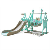 3-in-1 Kid Playset Slide and Swing Set for Toddlers Baby Climbing Freestanding Slides Playset Indoor Outdoor Playground for Kids