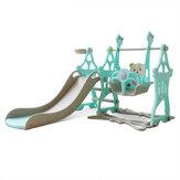 Conjunto infantil 3 em 1 conjunto deslizante e balanço para bebês de escalada infantil Slides autônomos Conjunto infantil interno ao ar livre Playground para crianças