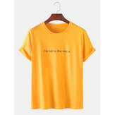 Mens Breathable Slogan Print Short Sleeve T-Shirts