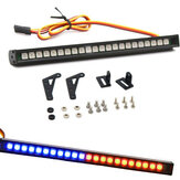 22LED Colorful RC Flashing LED Light Bar Roof Lamp Kit for 1/10 TRX4 SCX10 90046 RC Crawler Truck