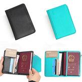 RFID Blokkerende PU Leather Passport Holder 9 Slot ID Credit Card Case Travle Portemonnee