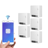 5 шт. SONOFF MiniR2 Two Way Smart Switch 10A AC100-240V Работает с Amazon Alexa Google Home Assistant Nest поддерживает режим DIY Позволяет установить прошивку на Flash